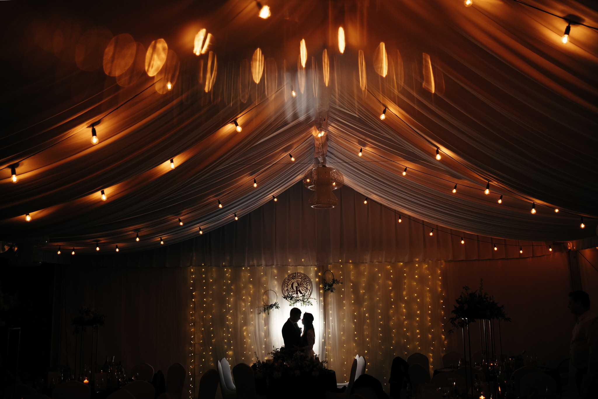Brzoskwinia Ogród wesele pod namiotem -